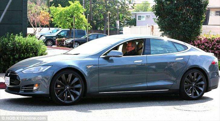 Steven Spielberg In His Tesla Model S For More Check Out Www Evannex Com With Images Tesla Model S Tesla Tesla Spacex