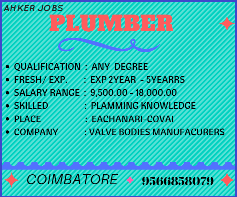Plumber Plumber Company Valve Bodies Manufacturing Qualification Any Degree Fresh Exp Plumber Plumbing Companies How To Apply