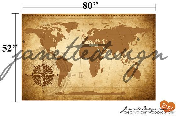 Living room wall decorlarge world map wall decal map fabric wall large rustic world map fabric wall decal wall art by janettedesign gumiabroncs Images