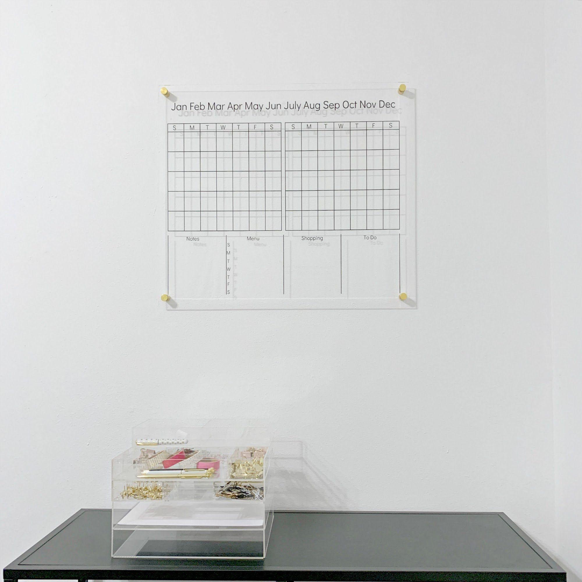 Acrylic Dry Erase Calendar Board, Family Wall Command