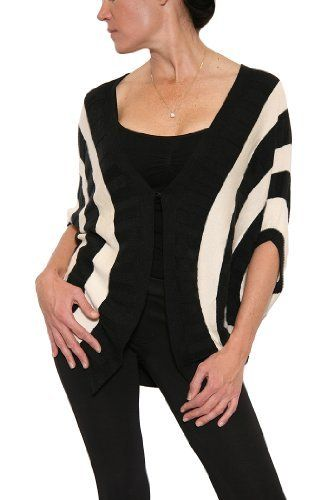 Women's Addison Story Striped Cocoon Sweater in Black/Ivory ...