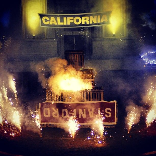 Cal's bonfire rallies have been heating up Big Game Week for over 100 years #GoBears #BearTerritory by calathletics