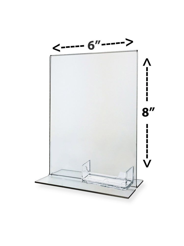 Clear Frame Table Tent With Business Card Holder 6\