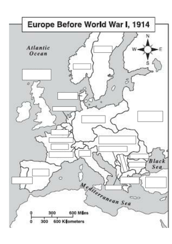 Europe Before Ww1 Blank Map Docx Ww1 World History