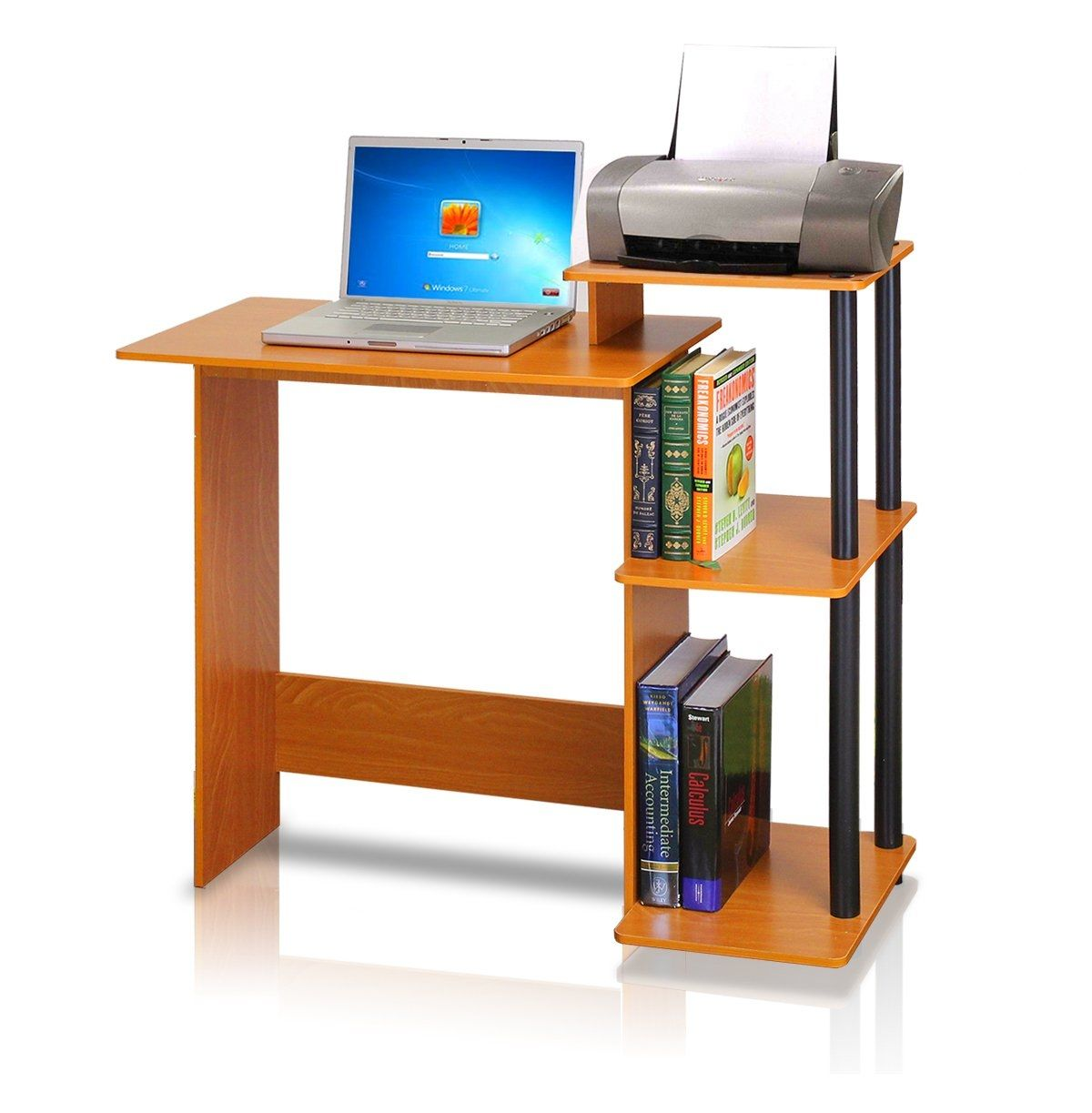 Office Desk With Printer Shelf Small Computer Desk Computer Desks For Home Computer Desk