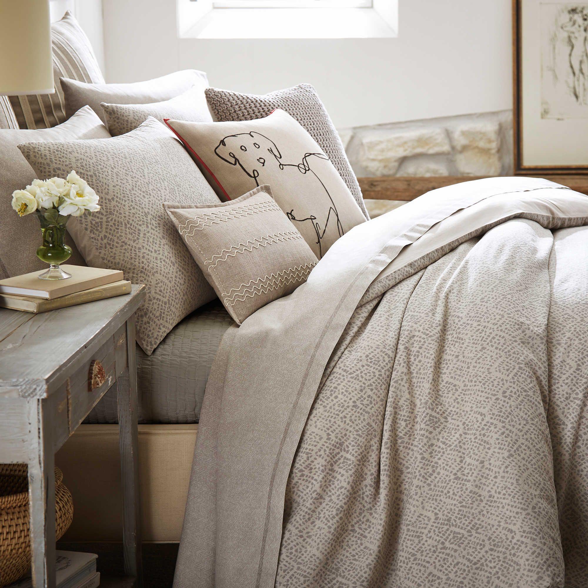 Ed Ellen Degeneres Mosaic Tile Duvet Cover In Beige Bed Linens