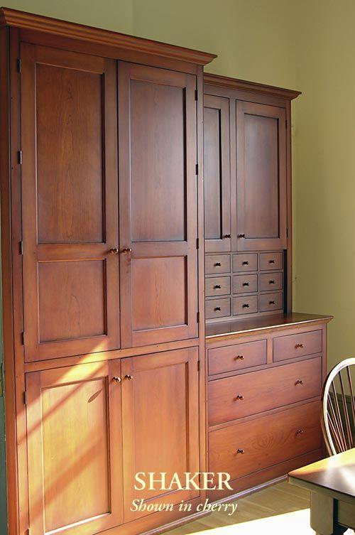 Garde manger cuisine et salle manger pinterest mobilier de salon style shaker et meuble - Meuble shaker ...