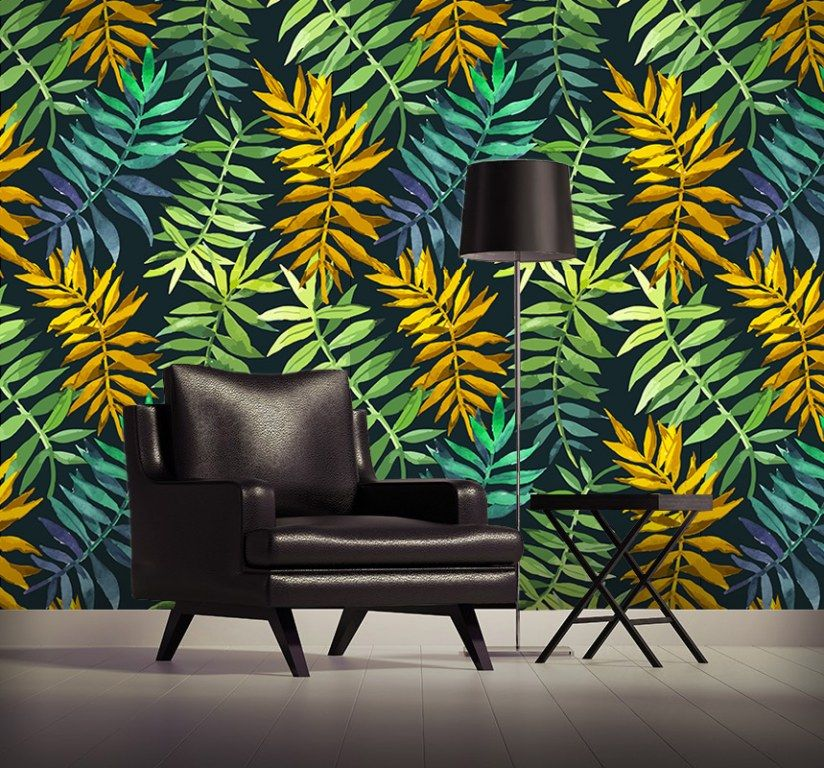 decoration jungle urbaine yeda design papier peint textile et vinyle adh sif boutique de. Black Bedroom Furniture Sets. Home Design Ideas