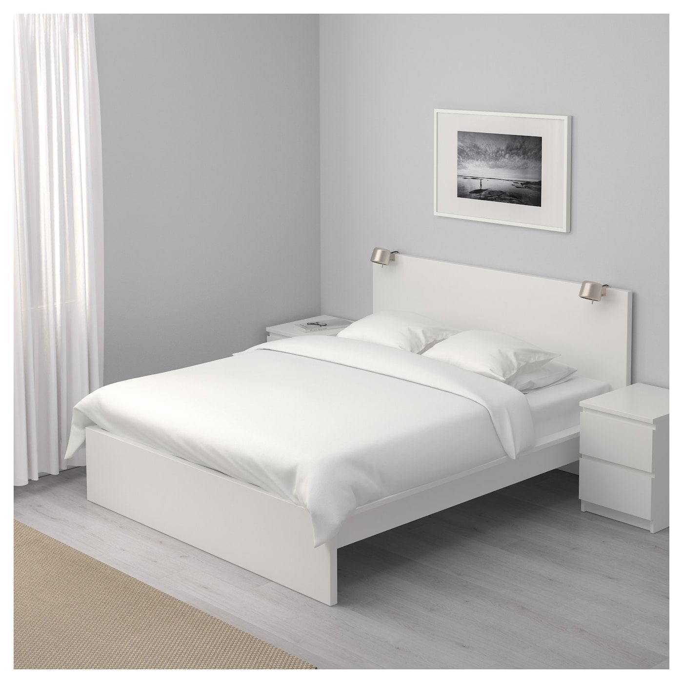 Malm Bed Frame High White Luroy Queen Ikea White Bed Frame