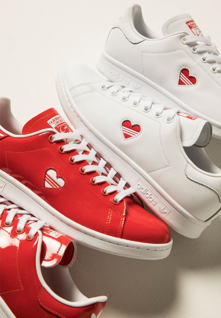 huge discount eccaa 87cd5 We asked real couples to try on the adidas Stan Smith Valentine s Day Pack  - Fashion Journal