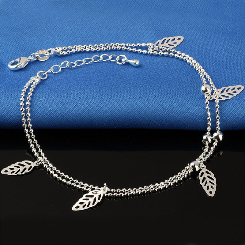 unique silver heart anchor popular wholesale set cross infinity layer anklet chain products goldplated anklets turquoise exquisite multi pearl