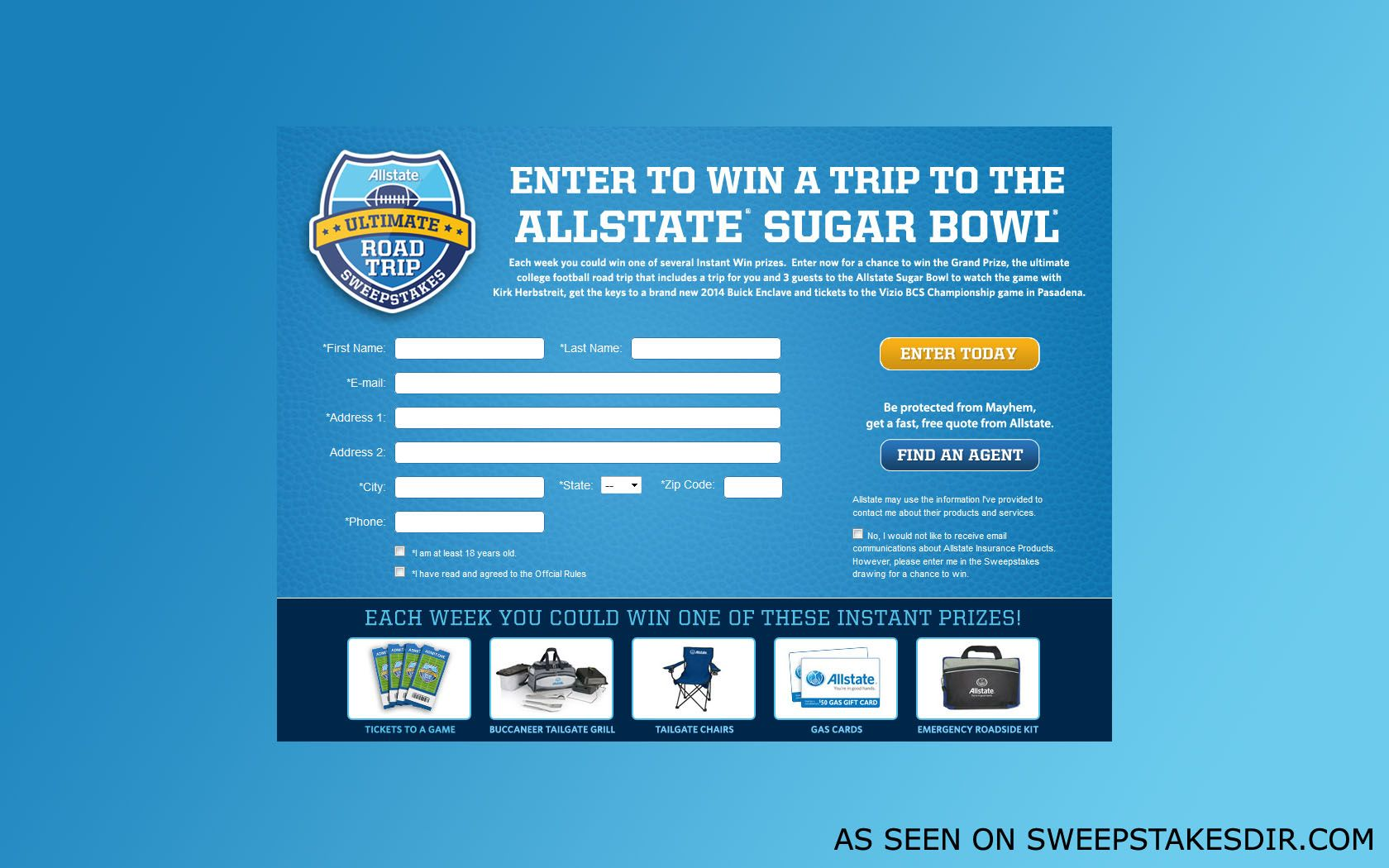 Allstate diy sweepstakes and giveaways
