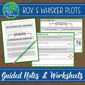 This Resource Includes Detailed Step By Step Notes On How To Create A Box And Whisker Plot A Worksheet And An Assessment Guided Notes Math Lessons Worksheets Box and whisker plots worksheets