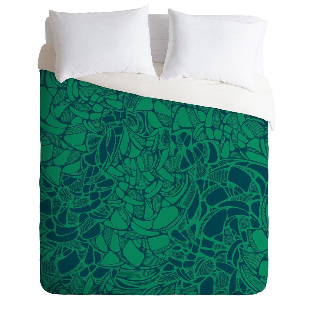 Karen Harris Carillon Peacock Emerald Duvet Cover |   Wordt niet als stof verkocht :(