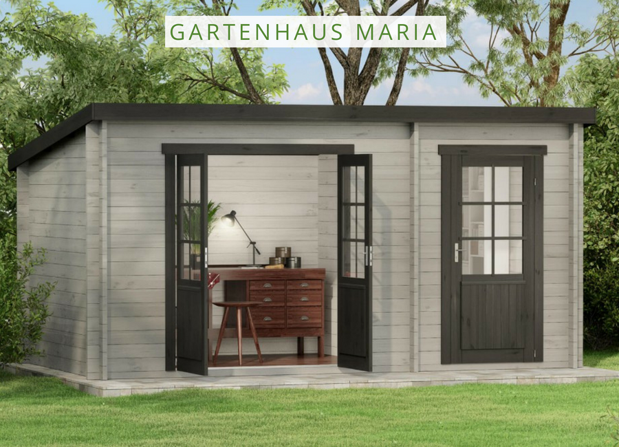 Gartenhaus mit Pultdach Das Gartenhaus Maria bietet mit