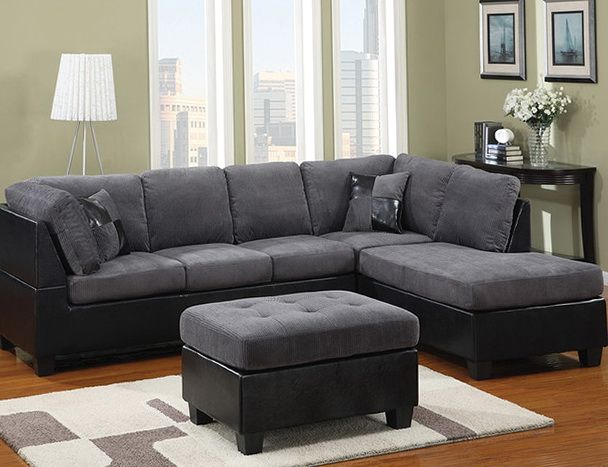 Superb Dark Grey Sectional Sofa