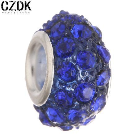 BE-63 Fashion Resin Bead Charm Bead European Big Hole Loose Bead Amazing Crystal Fit BIAGI Bracelet