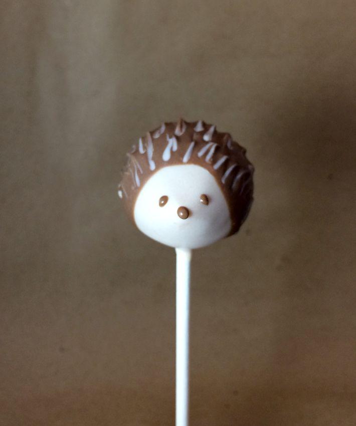 Make Adorable Tiny Hedgehogs In Our Woodland Cake Pop Series Animal Cake Pops Hedgehog Cake Cake Pop Tutorial