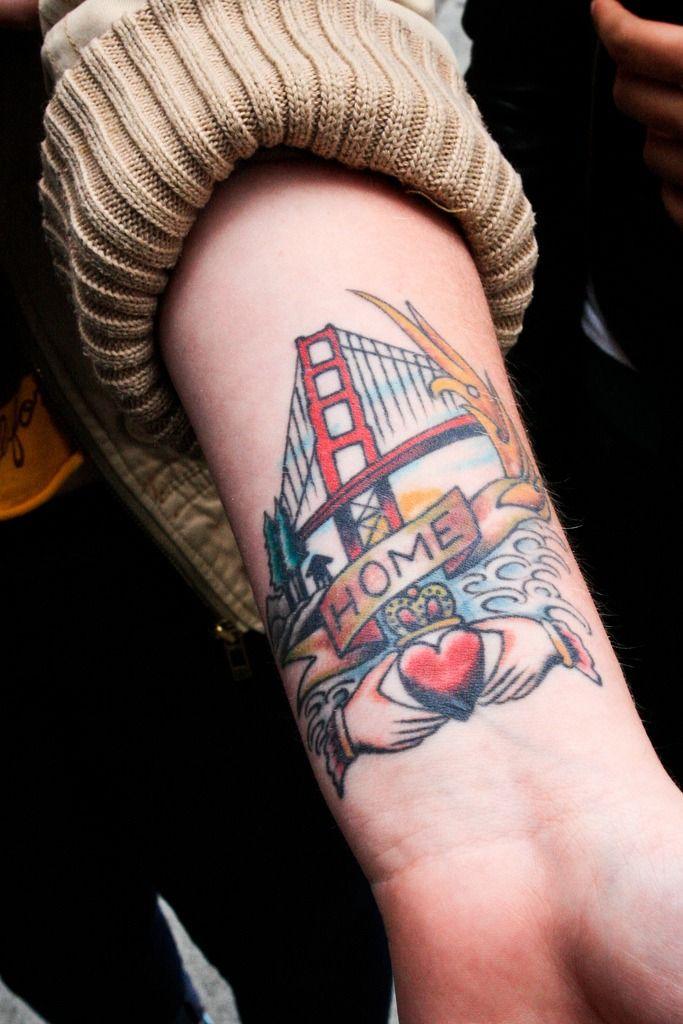 be207f3a5 San Francisco, California Tattoo | Tattoos | Forearm tattoo men ...