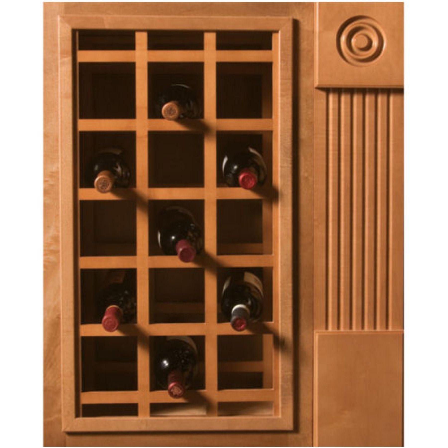 18 Bottle Capacity 17 Inch W X 29 Inch H Alder Unfinished Wood