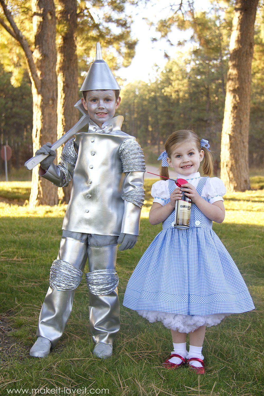 diy quotwizard of ozquot costumes glinda tin man dorothy and