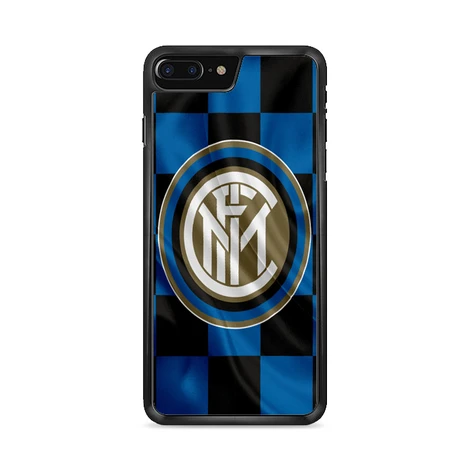 Inter Milan Logo Flag Wallpaper iPhone 8 Plus Case | Miloscase
