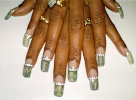 Money nails | Toe nail designs, Get nails, Pedicure designs