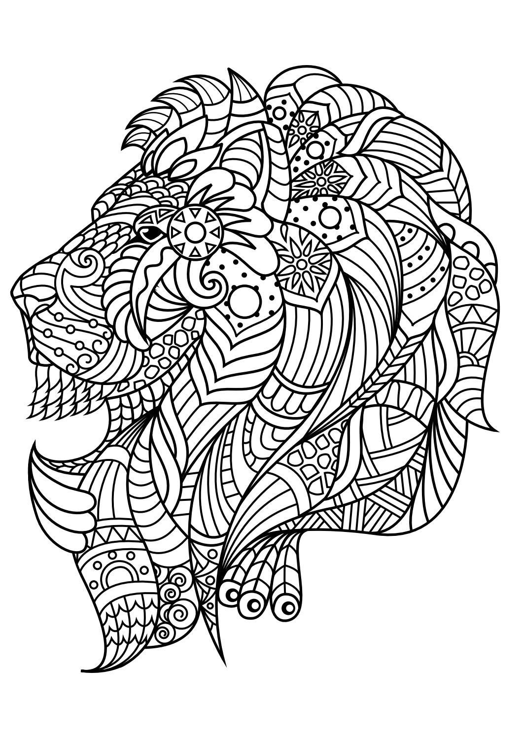 100 Best Animal Coloring Pages Pdf Coloring Animals Adult Top Image Gallery Collection Lion Coloring Pages Animal Coloring Books Adult Coloring Animals