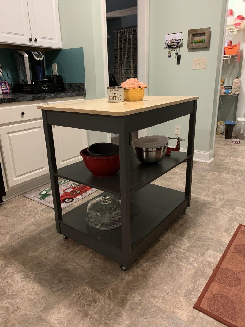 20 diy kitchen island ideas that can transform your home painted kitchen island diy kitchen on kitchen island ideas diy id=73631
