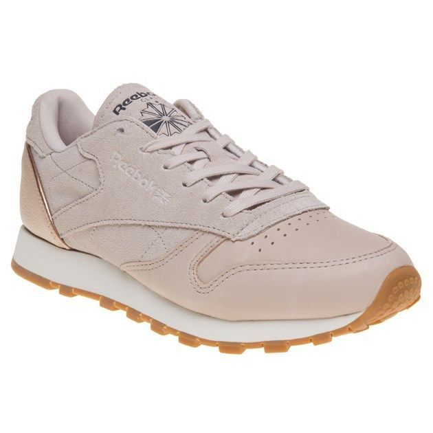 Womens Reebok Classic Leather Trainers Natural