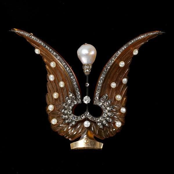 Antique French Tiara Piece #AntiqueJewelry #Tiaras