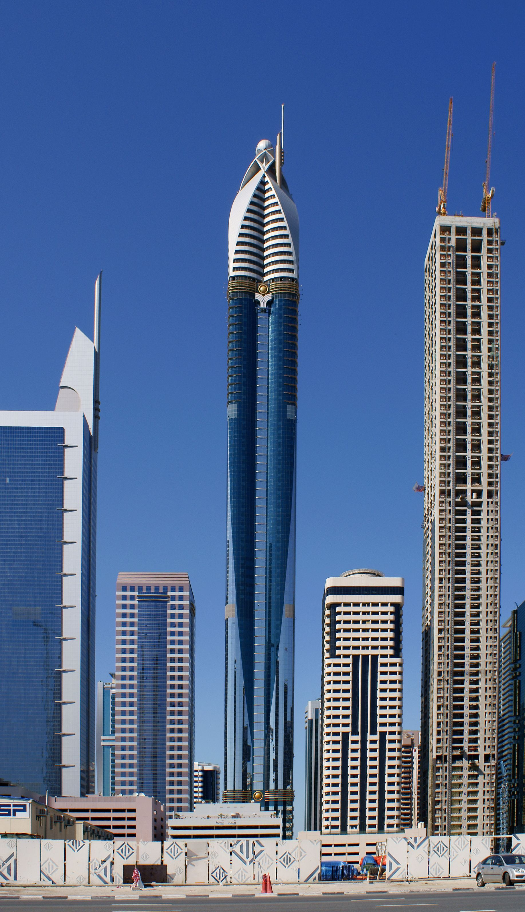 The rose tower with a height of 333 meters currently the Dubai buildings