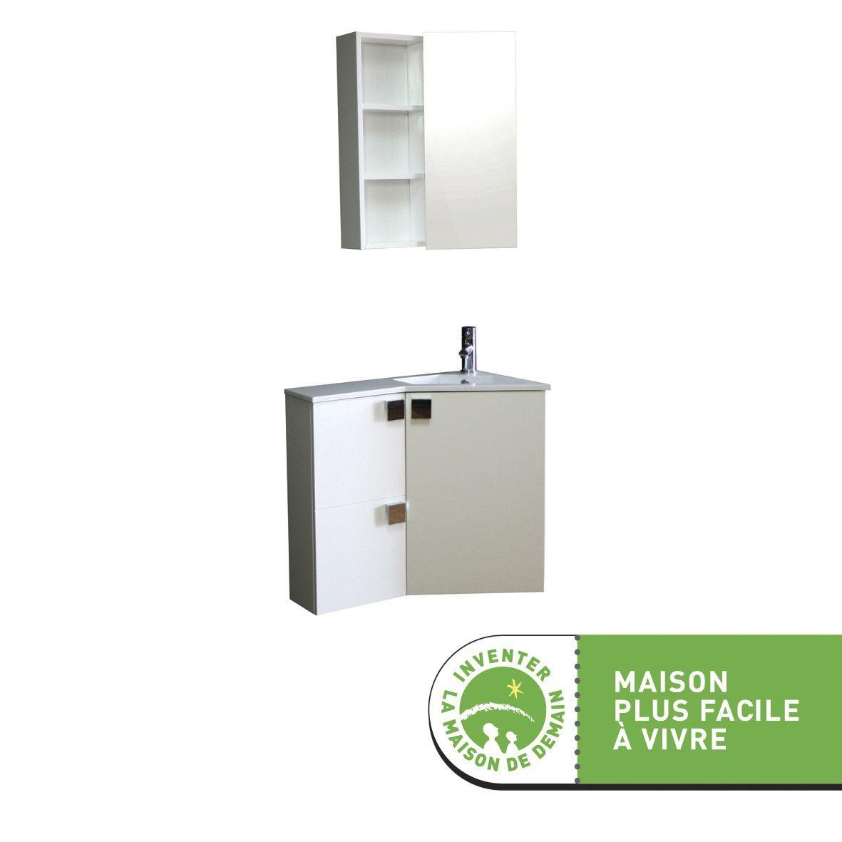 Meuble Sous Vasque Corner Blanc Meuble Sous Vasque Meuble Salle De Bain Mobilier De Salon