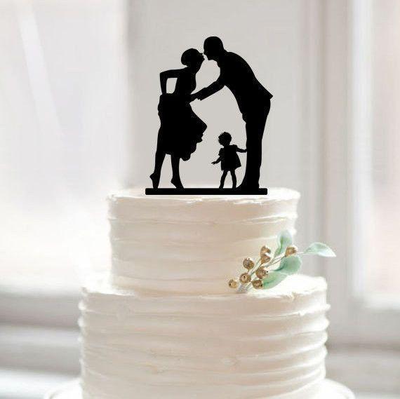Wedding Cake Topper Sweet Family Girl Daughter Child Children Baby Dog Cake Topper Wedding Wedding Topper Wedding Cake Decorations
