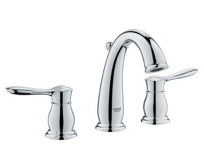 The Grohe 20390000 Starlight Chrome Direct For Parkfield Widespread Bathroom Faucet With Silkmove And Quickfix
