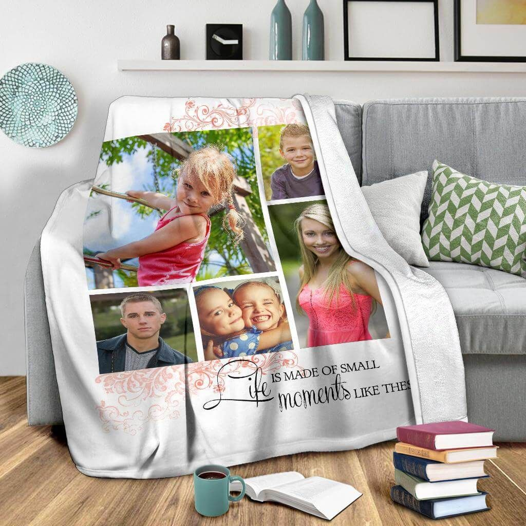 Life Is Made Of Small Moments Like These - Custom Blanket - Small Fleece Blanket (40x30)