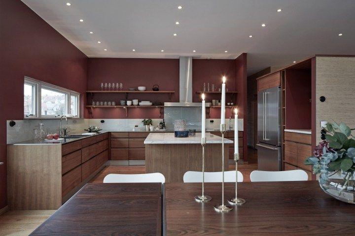 Piso sueco con salón de 74 m² Interiors, Kitchens and Room