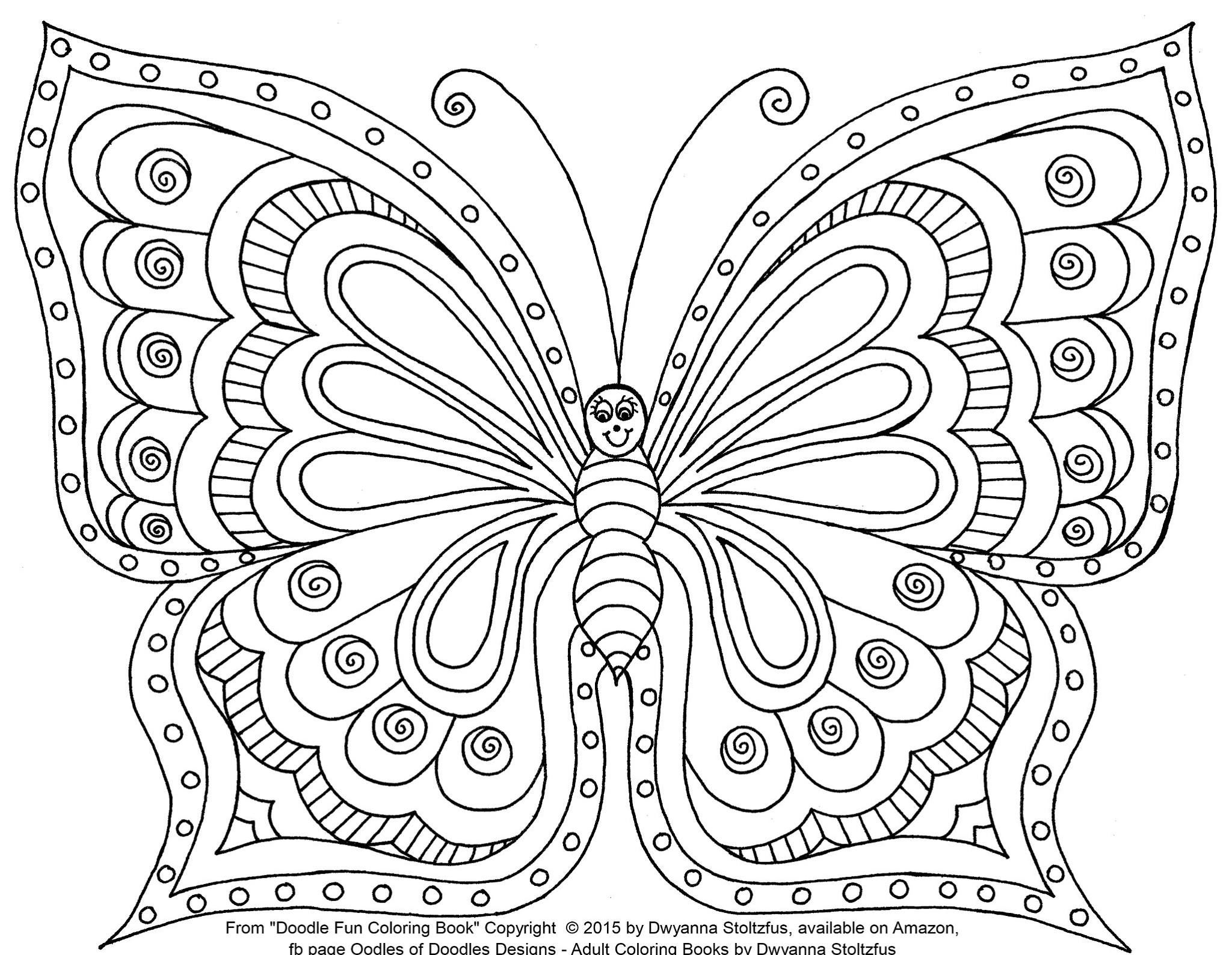 Artist Dwyanna Stolzfus Butterfly Coloring Page Coloring Pages