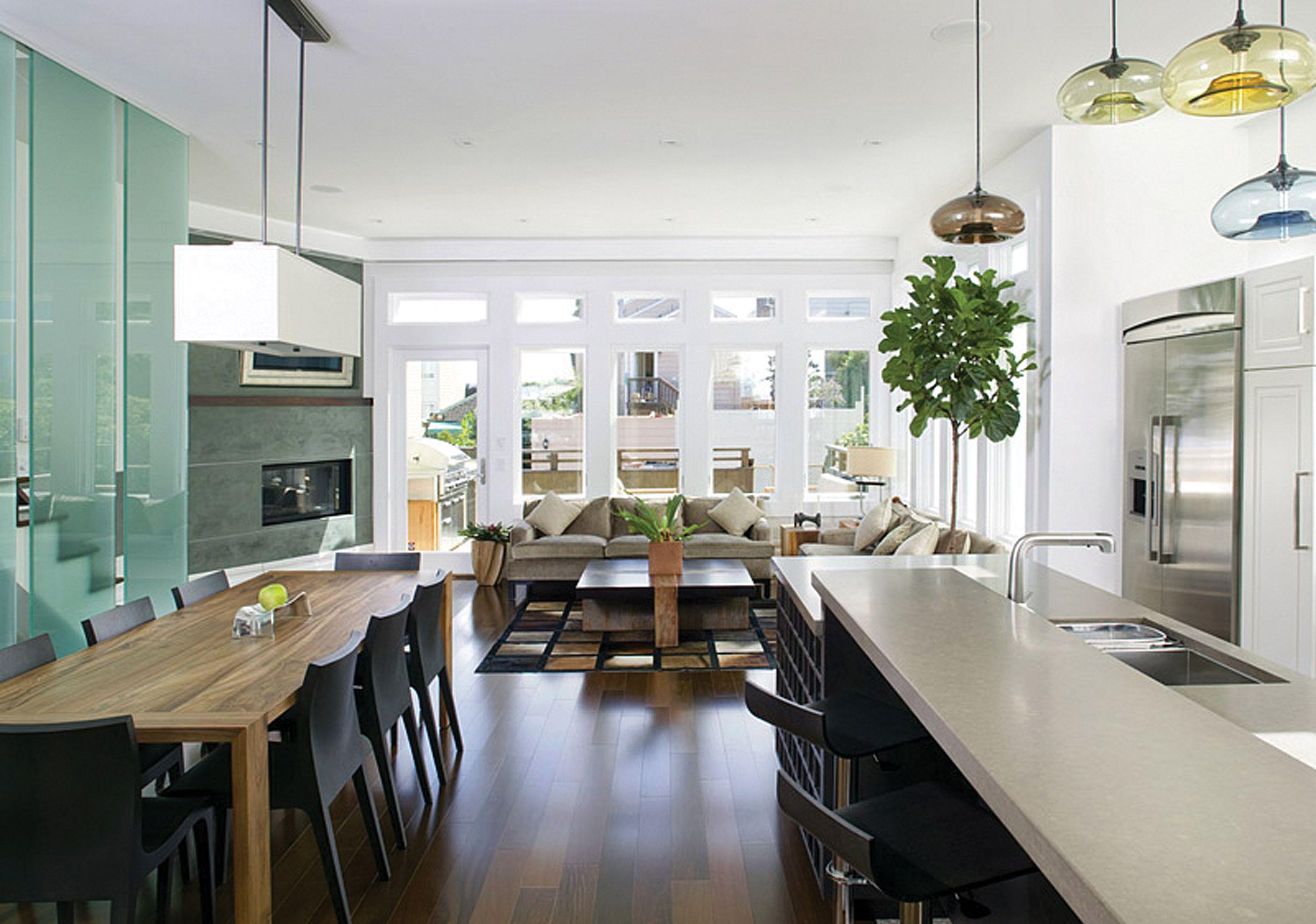 Feldman Architecture kitchen project featuring hand blown Niche Modern Aurora lighting & Feldman Architecture kitchen project featuring hand blown Niche ... azcodes.com