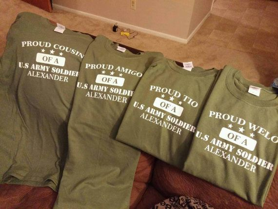 ee8a8bdcc On Sale Custom personalized T-shirt proud of a US Army soldier tshirt mom  dad sister family brother friend girlfriend wife husband boyfriend