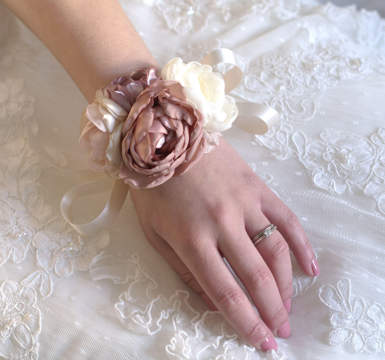Wrist Corsage Wedding Corsage Flower Wrist Corsage Pink Floral