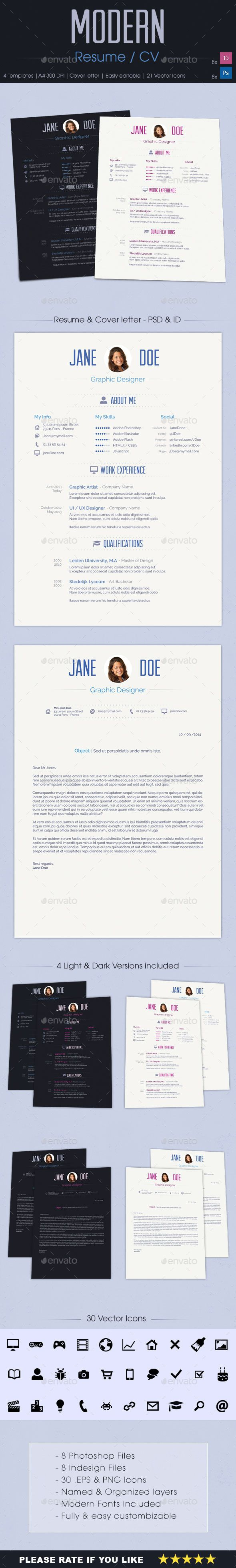 Modern Resume Modern Resume Professional Resume And Modern