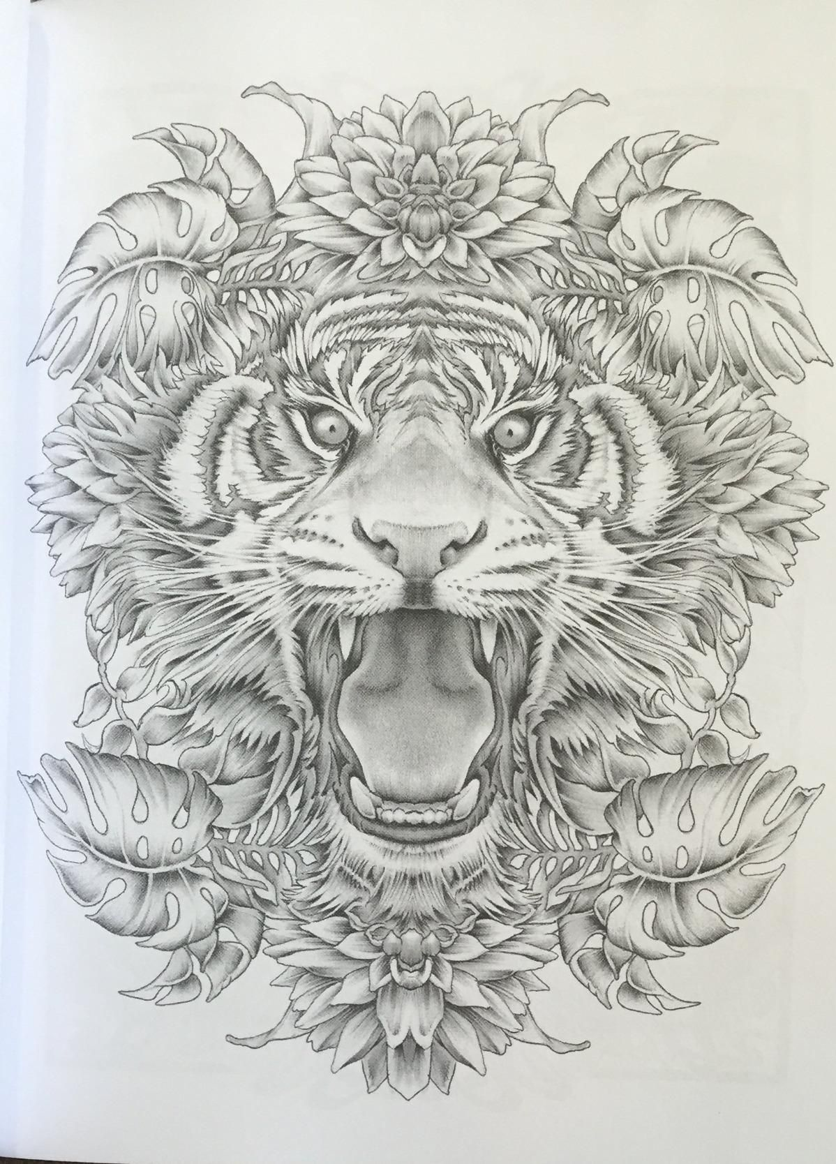 Colour My Sketchbook 3 Greyscale Colouring Book Volume 1 Bennett Klein Grayscale Coloring Animal Coloring Pages Detailed Coloring Pages [ 1668 x 1198 Pixel ]