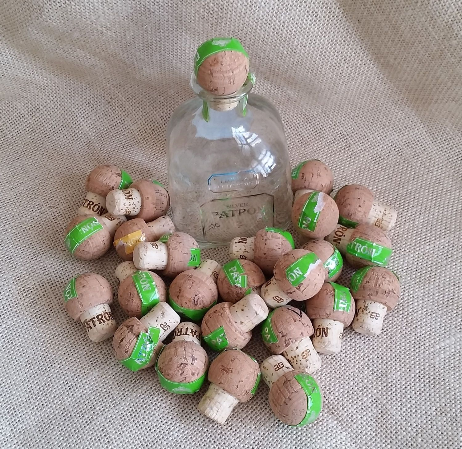 Cork Crafts For Weddings: 25 Used Patron Tequila Corks