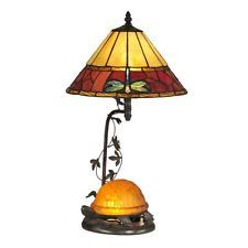Dale Tiffany Amber Turtle Table Lamp With Night Light - TT12472