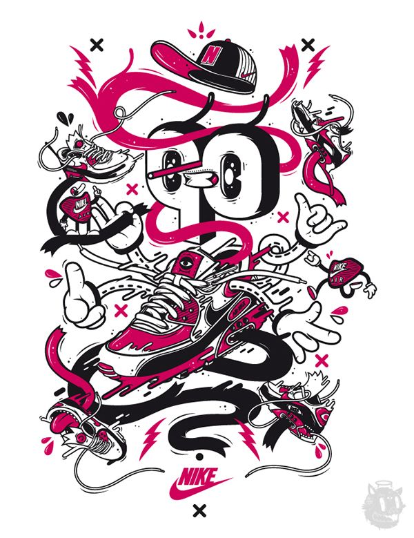 426a8d61 Illustrations for different Nike divisions like Nike Sportswear, Nike  Basketball, Footlocker USA and Footlocker Europe. Spring/Summer 2012.