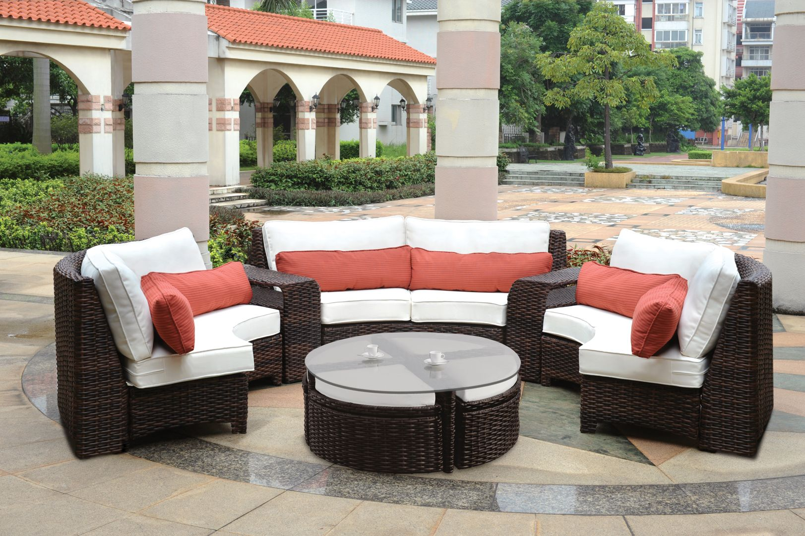 Saint Tropez Sectional Patio Furniture Collection From South Sea Rattan
