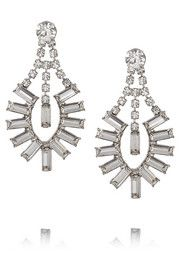 Tom Binns Faux Real silver-plated Swarovski crystal earrings