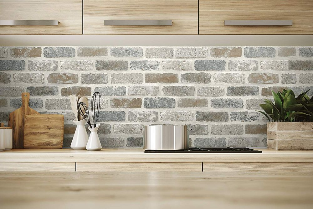 Washed Faux Brick Peel And Stick Wallpaper Faux Brick Peel And Stick Wallpaper Brick Wallpaper