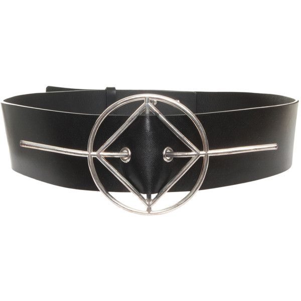 ANTHONY VACCARELLO Leather Belt (£165) ❤ liked on Polyvore featuring accessories, belts, leather belt, studded belt, anthony vaccarello, genuine leather belt and genuine leather studded belt